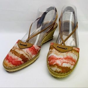 Soft styles water color wedge heel sandals 10M